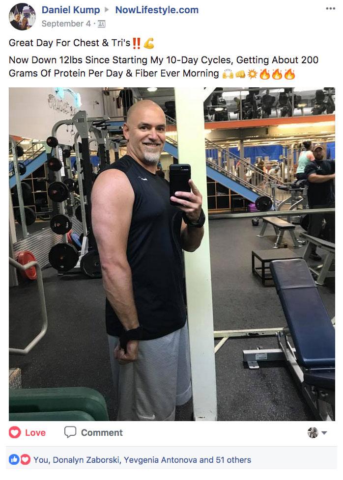 Daniel Kump Facebook Post