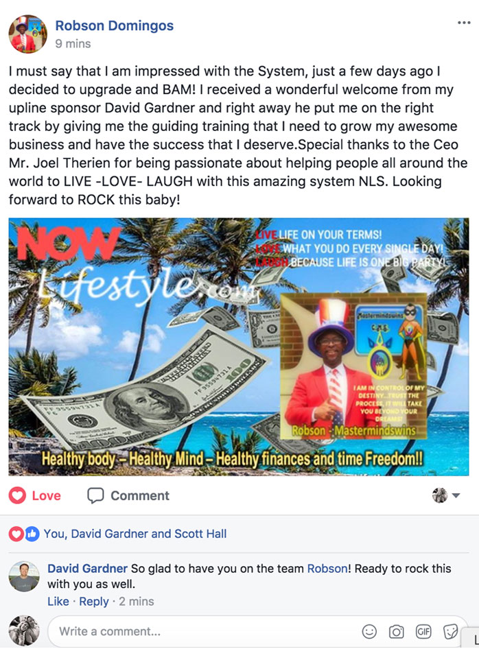 Robson Domingos Facebook Post
