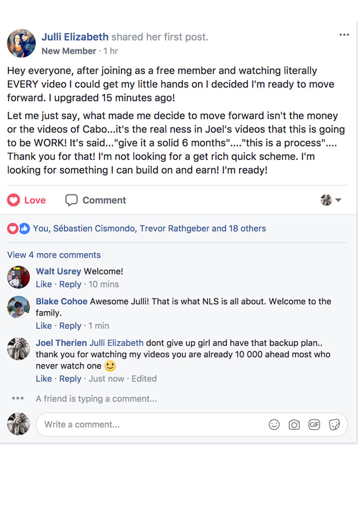 Julli Elizabeth Facebook Post